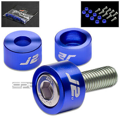 J2 ALUMINUM HEADER MANIFOLD METRIC CUP WASHER+BOLT FOR JDM CG PRELUDE BB SILVER
