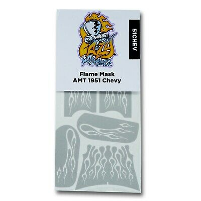 Flame Paint Masks for AMT 1951 Chevy Bel Air, Fleetline or Convertible