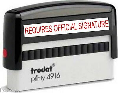 MPN 4916 TRODAT REQUIRES OFFICIAL SIGNATURE SELF INKING STAMP 68x9mm