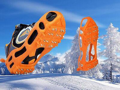 Strong Snow Anti Slip Spikes Grips Grippers Crampon Cleats Shoes Boots Overshoe