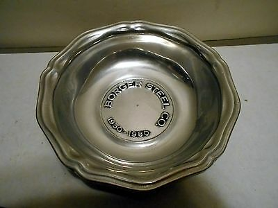 VTG Wilton Armetale Advertising Bowl Borger Steel Co. 30 year anniversery