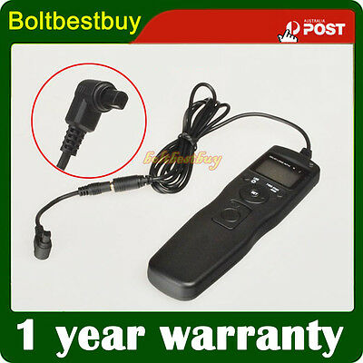 Shutter Release Timer Remote Control Cord for Camera Canon EOS-1D C 7D 6D 5D MK2