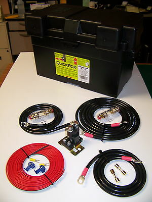 Heavy Duty Dual / Auxiliary Battery Isolator W/ Cables - Complete Kit! 150A