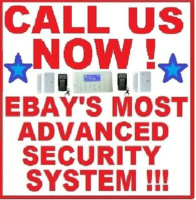 4-BAND GSM MOBILE CELLULAR LCD SMS WIRELESS HOME SECURITY SYSTEM BURGLAR ALARM H
