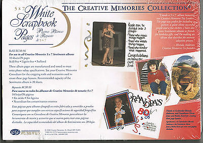 CREATIVE MEMORIES 5x7 WHITE PAGES BNIP & NLA