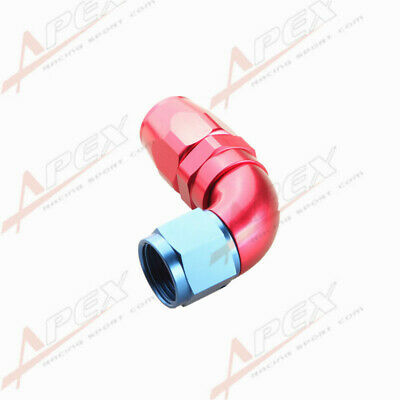 Swivel 90 Degree -10An An10 10An -10 An Hose End Fitting Aluminum Red/blue