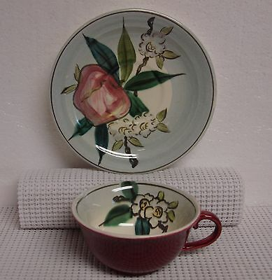 Red Wing NORMANDY Cup & Saucer Set NICE Multiple Available APPLE DESIGN