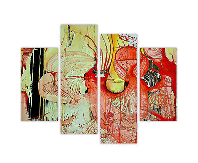 5 Panel Total 115x80cm Large ABSTRACT  ART CANVAS  DIGITAL SHARP