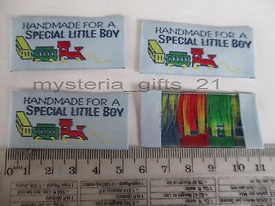 Label Sew-On Clothing *woven*hand Made For A Special Little Boy