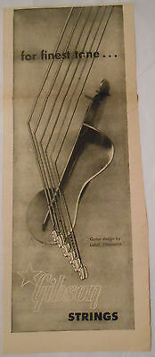 1953 vintage music AD for the finest tone...*Gibson Strings