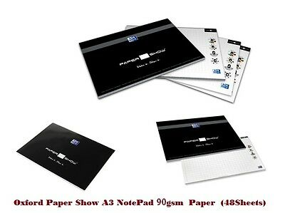 5 X Oxford Paper Show A3 Notepad for Digital Writing Kit 48 Sheets 90gsm