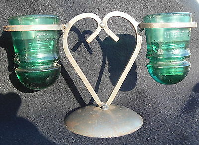 Heart's On Fire Twin Brookfield Candle Holder.