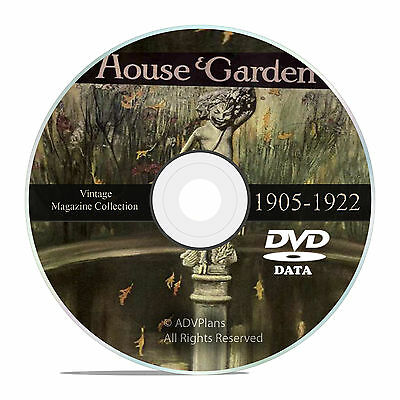 Classic Old House and Garden Magazine, 1905-1922, Victorian Home Design DVD V37