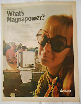 1970 boating AD Chrysler Outboard boat motor What's Magnapower?