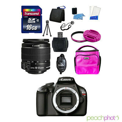 NEW Canon EOS T3 1100D SLR Camera with 18-55 IS II SUPER VALUE KIT USA