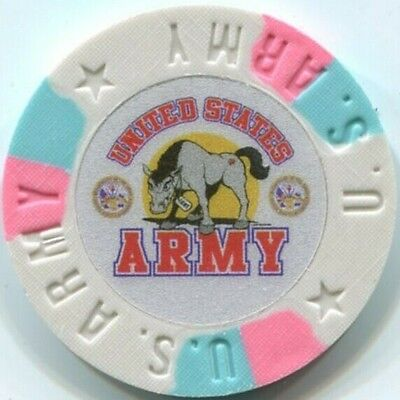 8 pc 8 colors United States ARMY poker chips samples set #232