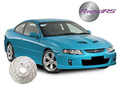 Hsv Vt Vu Vx Vy Vz R8 Maloo Clubsport Slotted Brake Disc Rotors With Track Pads