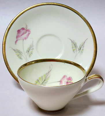 LOVELY ALKA BAVARIA LILY CUP & SAUCER CREAM CUP