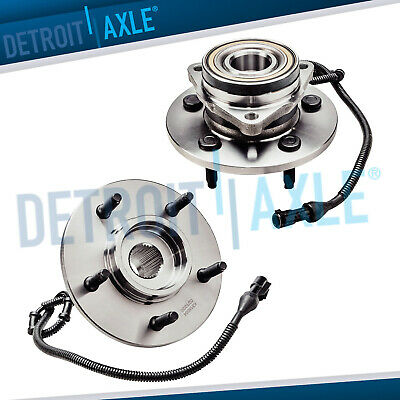 Pair(2) NEW Front Driver & Passenger Wheel Hub & Bearing 4WD w/ ABS Ford Lincoln