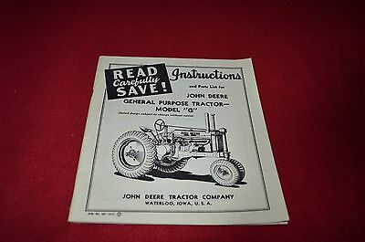 John Deere G Tractor Operator's & Parts Manual Book GBMD2