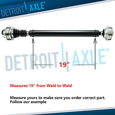 2002 -07 Liberty 3.7L 4x4  Driveshaft Assembly Length: Length: 19.0in From Weld