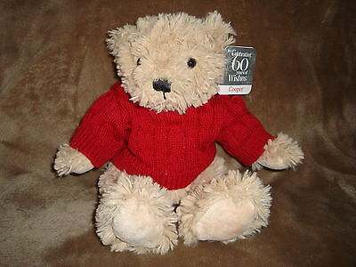 Sears Christmas Plush Beanbag 2012 60th Anniversary Bear Cooper 10""