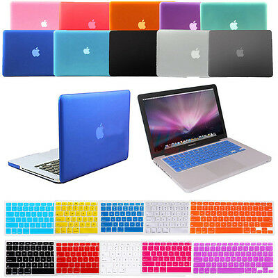 "Matte Frosted Case +Keyboard cover Apple Mac MacBook Air Pro  11"" 11.6"" 13"" 15"""