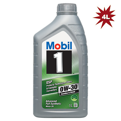 Mobil 1 0W-30 ESP Fully Synthetic Car Engine Motor Oil - 4x1L = 4 Litre