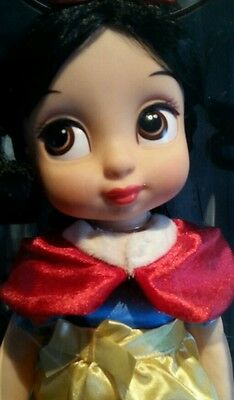 "NEW in Box Disney Store Animators Collection Snow White 16"" Brunette Doll"