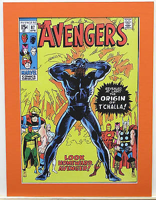 AVENGERS 87 PIN up Poster Frame Ready Marvel PANTHER - $21.96 | PicClick