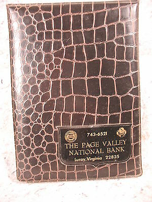 vintage old The Page Valley National Bank Luray Virginia telephone faux leather
