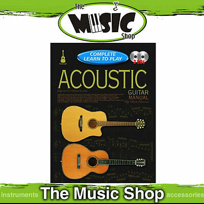 Progressive Complete Learn to Play Acoustic Guitar Manual - 240 Page Book 2 CD's