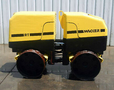 2009 Wacker Neuson Rt82 Remote Controlled Padfoot Trench Compactor Roller