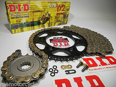 YAMAHA R6 '03/05 DID GOLD X-Ring QUICK ACCELERATION CHAIN AND SPROCKETS KIT  R 6