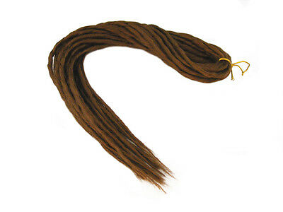 Elysee Star Dreads #30 Reddish Brown Dreadlocks Double Ended Synthetic Dread