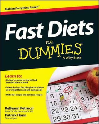Fast Diets for Dummies by Consumer Dummies (English) Paperback Book Free Shippin