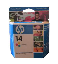 HP 14 (C5010D) Yellow/Tri-Color Ink Cartridge