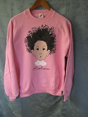 "NOS Size Large Pink Jerzees ""RELAX"" Sweatshirt NWT"