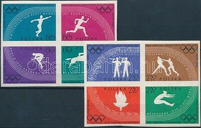 Poland stamp 1960 Summer Olympics imperforated block of 4 MNH WS135248