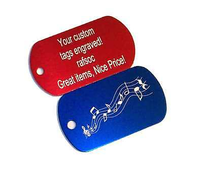 2 Engraved Custom Metal Luggage Tags Personalized tag