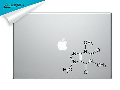 Caffeine Coffeine Mac Decal Laptop Sticker Mac Stickers Molecule 13 15 inch Mac