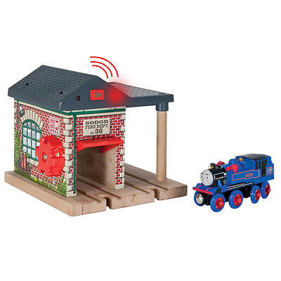 Thomas The Tank & Friends - Lights & Sounds Fire Station  W/belle!**new/htf**