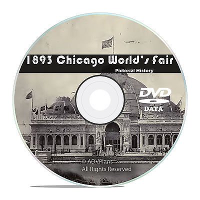 1893 Chicago World's Fair, Columbian Exposition, 50+ Historical Books on DVD V40