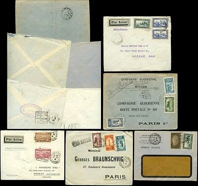 Morocco 1930-36 Airmail 5 Covers Multi Frankings