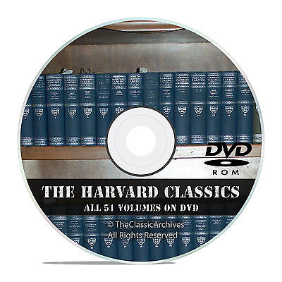 The Harvard Classics, All 51 Volumes, in PDF + DVJU, Vintage Novels on DVD V42