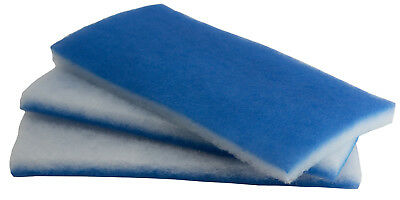 Value Pack 3 huge sheets Bonded Blue & White Poly Filter Floss 600-square-inches
