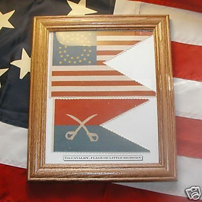 7th Cavalry Flag Set.....George Armstrong Custer Flags, Little Bighorn