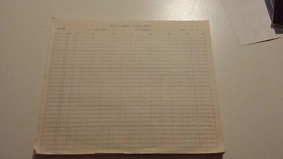 Pad of COBOL Coding sheets, approx 50 MINT  Rare Technology Collectable