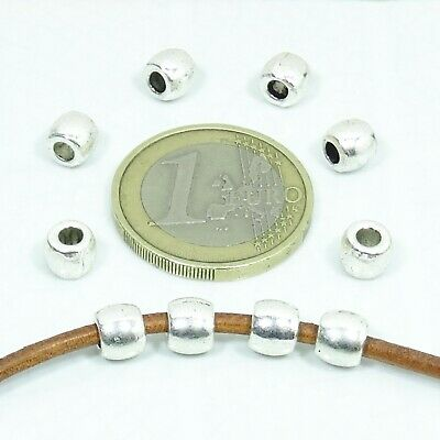 75 Tubos 6x5mm  T118  Plata Tibetana Spacer Beads Plating Rohre Tubi Fermoirs