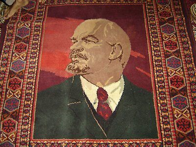 LENIN Extra Long Rare Carpet issued for the anniversary of 100th birth of Lenin